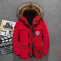 Мужская зимняя куртка АЛЯСКА ПУХОВИК. Размеры 44-52, красная. Очень тёплая!, фото 1