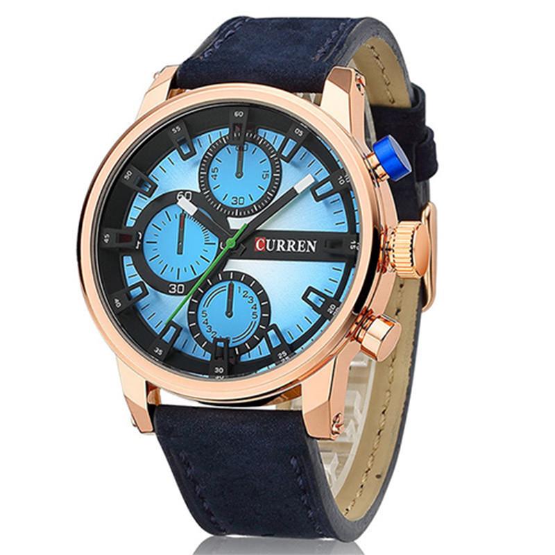 Часы мужские Сurren California blue-gold-blue