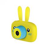 Детский цифровой фотоаппарат фотокамера с ушками с автофокусом фотик для ребенка BABY RABBIT Желтый (3766), фото 2