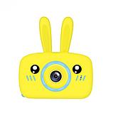 Детский цифровой фотоаппарат фотокамера с ушками с автофокусом фотик для ребенка BABY RABBIT Желтый (3766), фото 3