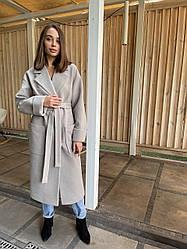 Жіноче довге преміум пальто з італійського кашеміру