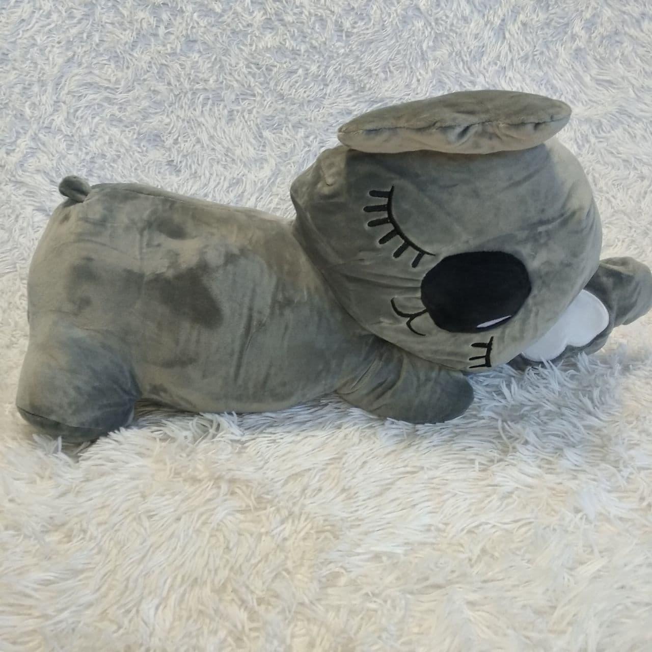 Плюшева іграшка-подушка коала з пледом всередині 3 в 1 krd0190