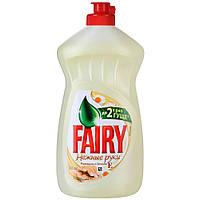 FAIRY бальзам для мытья посуды Нежные руки, ромашка и витамин Е 500мл