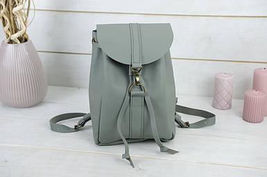 Жіночий шкіряний рюкзак Київ, розмір міні, натуральна шкіра Grand колір Сірий