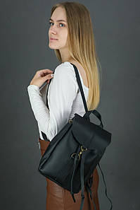 Жіночий шкіряний рюкзак Київ, розмір міні, натуральна шкіра Grand колір Чорний