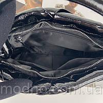 Жіноча шкіряна плетена лакова сумка через і на плече Polina & Eiterou, фото 10