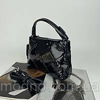Жіноча шкіряна плетена лакова сумка через і на плече Polina & Eiterou, фото 7