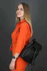 Жіночий шкіряний рюкзак Київ, розмір міні, натуральна шкіра Grand колір коричневый, оттенок Шоколад