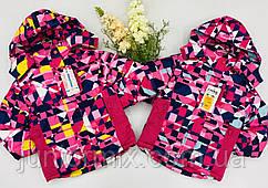 Зимова дитяча термокуртка для дівчаток оптом 4----12років.