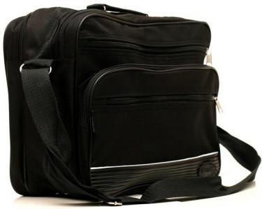 1f66e6b53724 Классическая черная мужская сумка из полиэстера Wallaby 2650 ...