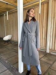 Демісезонне жіноче класичне пальто кашемірове