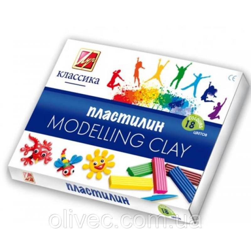 "Пластилин ""Луч классика"" 18 цветов"