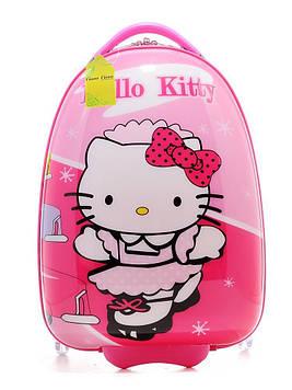 Чемодан детский для девочки «Hello Kitty» Хелло Китти на 2 колесах L 16