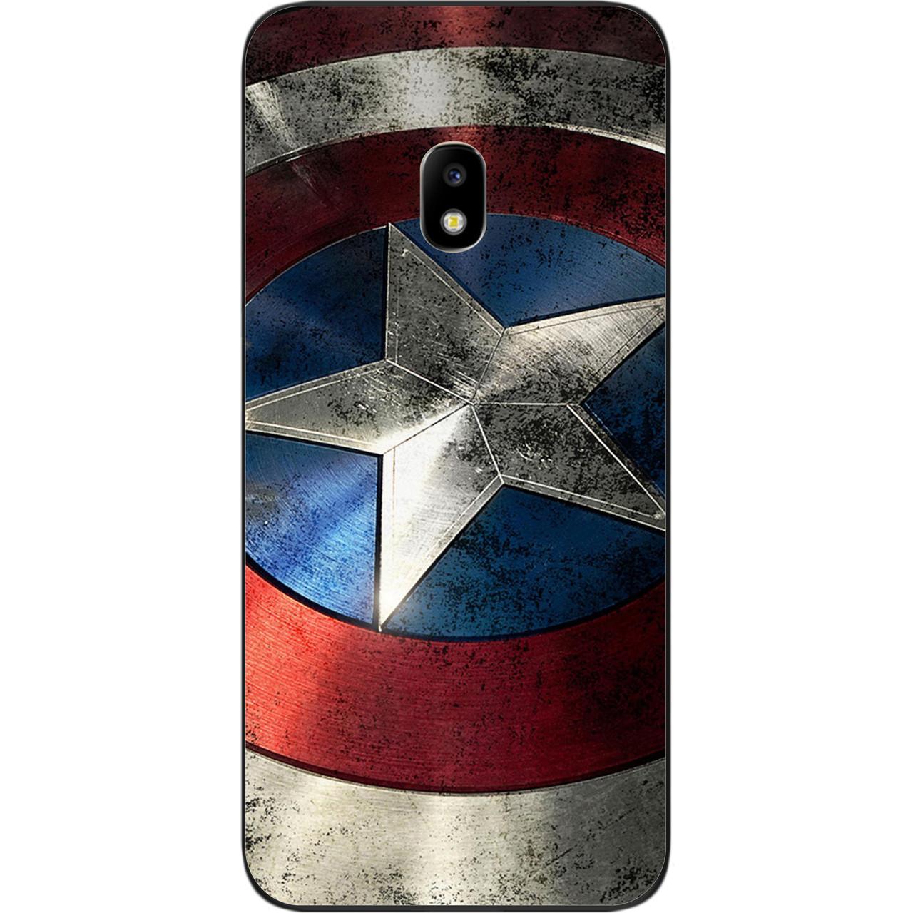 Силіконовий чохол бампер для Samsung J7 2017 Galaxy J730 з картинкою Капітан Америка