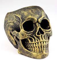 Ваза череп золотая