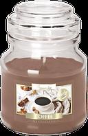 Свеча ароматизированная в стеклянном стакане с крышкой, Bispol /Coffe , 28 часов горения