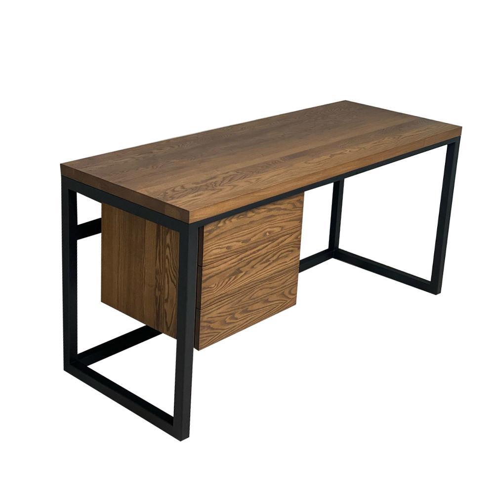 Письменный стол лофт из натурального дерева