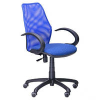 Крісло AMF Oxi/АМФ-5 сидіння Квадро-20/спинка Сітка синя