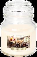 Свеча ароматизированная в стеклянном стакане с крышкой, Bispol /Vanilla , 28 часов горения