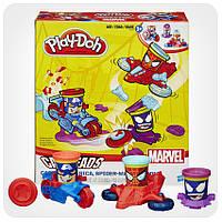 Набор для лепки Play-Doh «Транспортные средства героев Марвел»