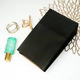 Подарочный пакет Черный 150*90*240 мм с плоским дном, фото 2