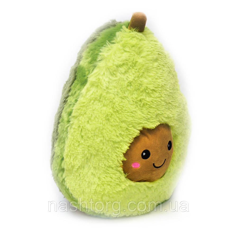 М'яка іграшка авокадік 65 см, подушка авокадо з коричневою мордочкою   мягкая игрушка авокадик