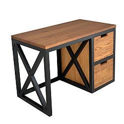 Письменный стол в стиле лофт из натурального дерева