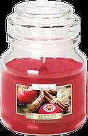 Свеча ароматизированная в стеклянном стакане с крышкой, Bispol / Apple - cinnamon , 28 часов горения
