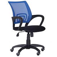 Крісло AMF Веб сидіння Сітка чорна/спинка Сітка синя