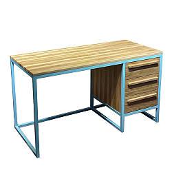 Стол офисный в стиле лофт из натурального дерева