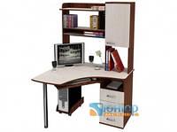 Угловой компьютерный стол с надстройкой ЮНИОР 1206