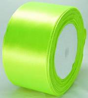 А48-20 Лента атласная 4,8см 4шт ультра зеленый