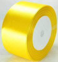 Лента атласная 4,8см   желтая ЛА48-23
