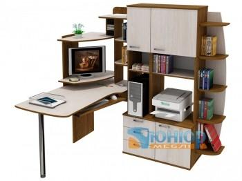 угловой компьютерный стол со шкафом юниор 1111 мфу в категории