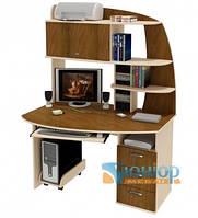 Угловой компьютерный стол с надстройкой ЮНИОР 1131