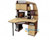 Угловой компьютерный стол с надстройкой ЮНИОР 1132