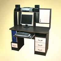Прямой компьютерный стол с надстройкой НИКА 12