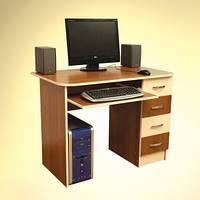 Прямой компьютерный стол НИКА 19
