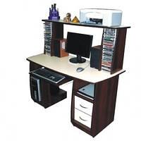Прямой компьютерный стол с надстройкой ЭЛЕКТРА