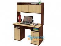 Прямой компьютерный стол с надстройкой ЮНИОР 1219