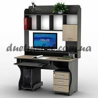 Прямой компьютерный стол с надстройкой СУ-10