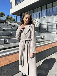 Премиальное женское демисезонное пальто миди из итальянского кашемира