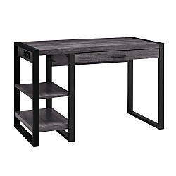 Офисный стол в стиле Loft из натурального дерева
