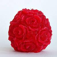 Свеча ручной работы Розовый сад