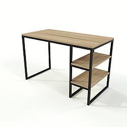Стол письменный в стиле Loft для офиса из натурального дерева