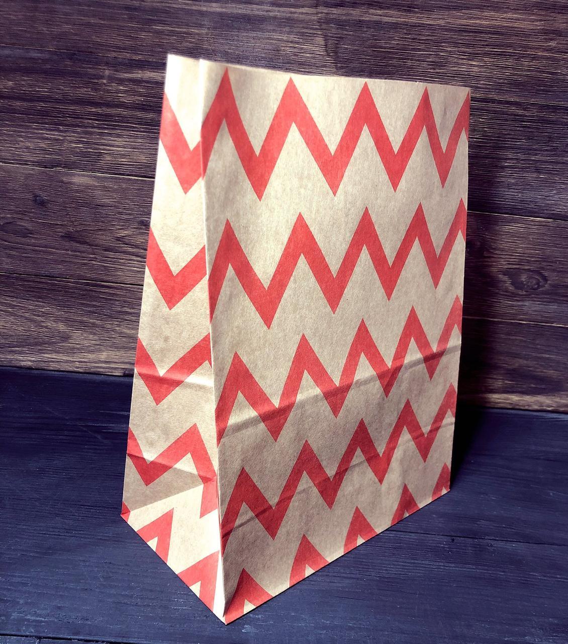 Подарочный пакет бумажный с рисунком орнамент 210х120х290 мм