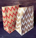 Паперовий пакет подарунковий з малюнком орнамент 210х120х290 мм, фото 3