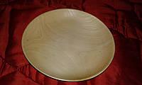 Деревянная тарель под роспись, осина, фото 1