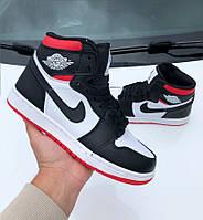 Мужские баскетбольные высокие кроссовки Nike Air Jordan / Осенние молодежные кроссы найк аир джордан Реплика