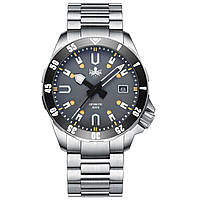 Чоловічі годинники PHOIBOS APOLLO TITANIUM PY031G 200M Automatic Diver Watch Gray, фото 1